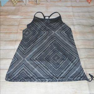 Fabletics sz xxs gray built in bra geometric tank